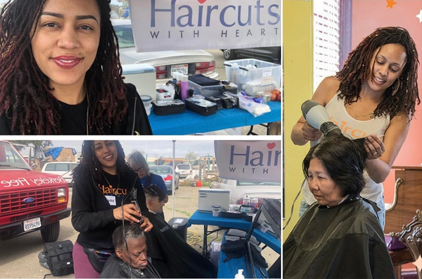 Haircuts with Heart Working